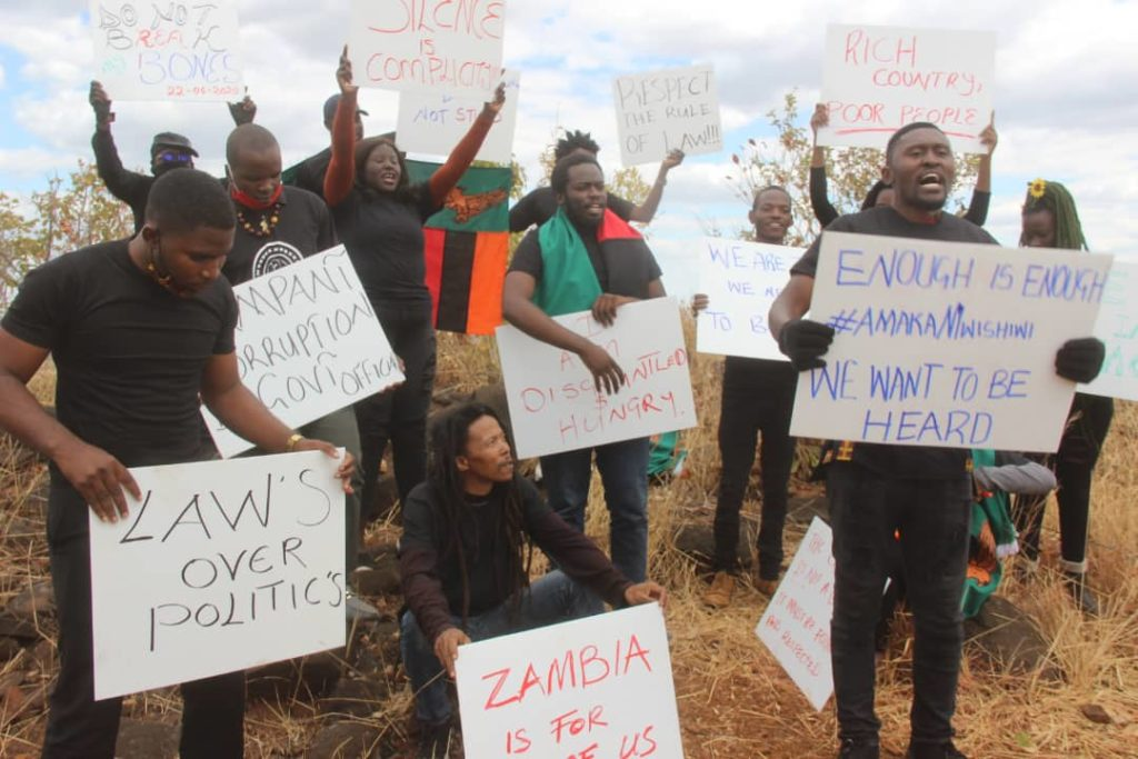 Zambian youth bush protests