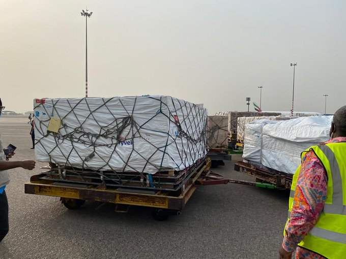Ghana takes delivery of Covid-19 vaccines