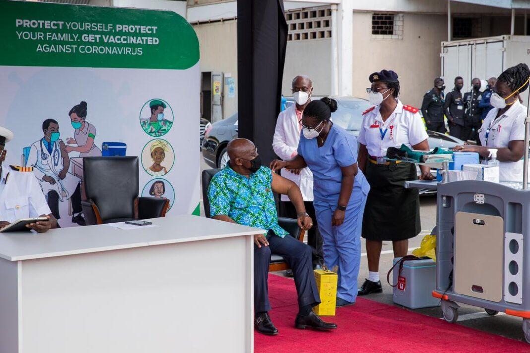 Ghana president take covax vaccine