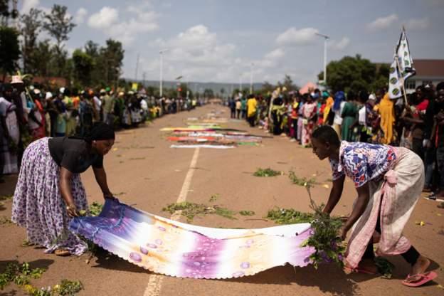 Mourners in Tanzania