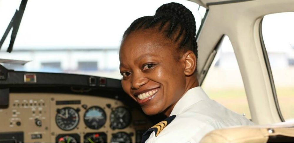Refilwe Ledwaba south african black pilot