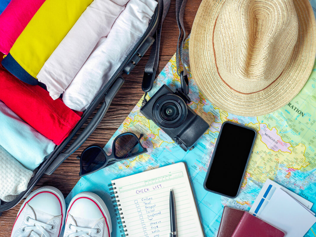 Traveling items for trip