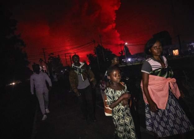 Volcano eruption in DR Congo