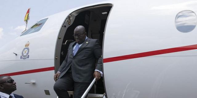 Akufo-Addo travels in private jet