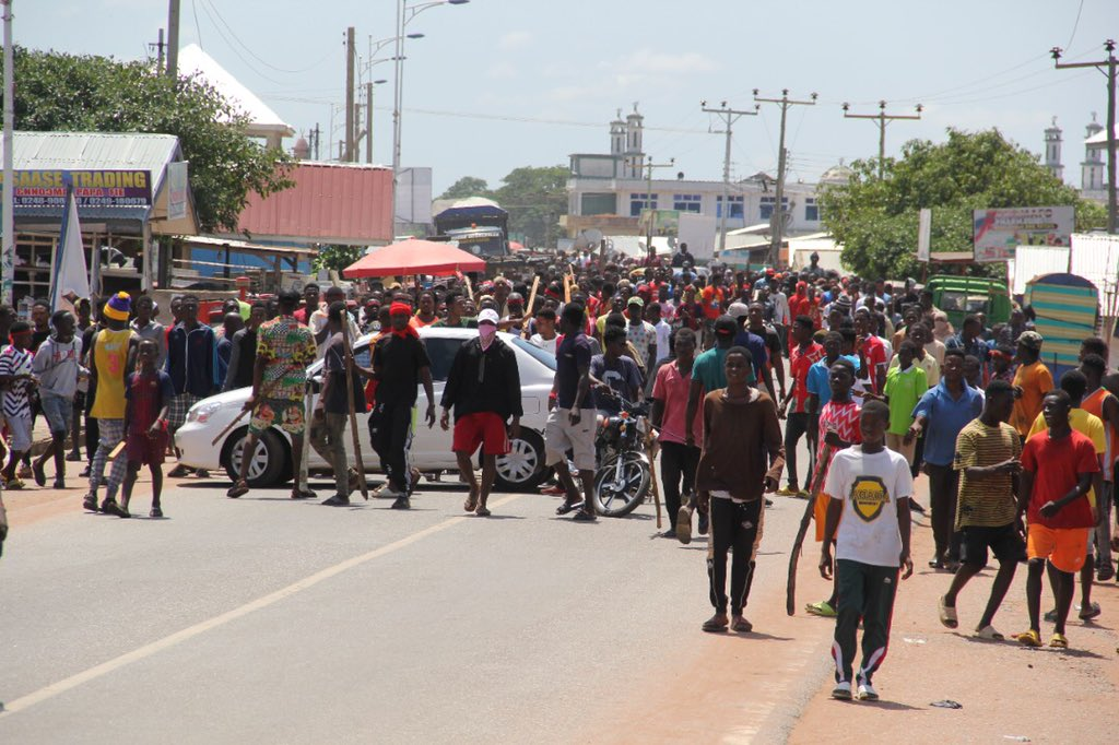 Ejura protesters in Ghana