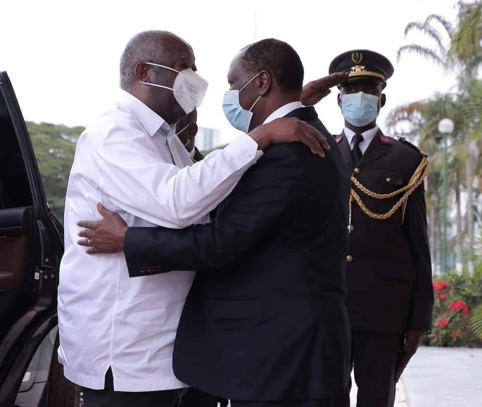 Gbagbo and Ouattara meet