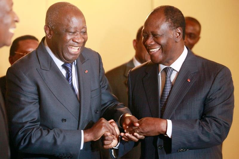Ouattara and Gbagbo