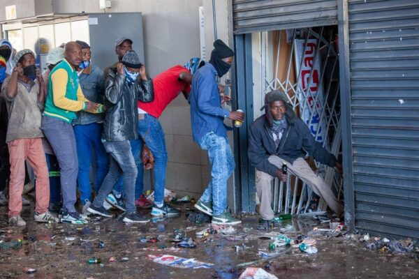 Violent protests in South Africa