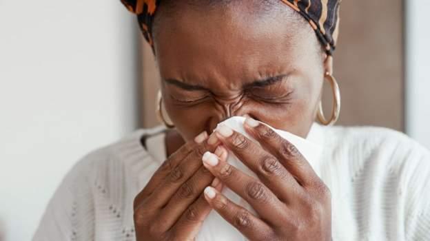 Blowing nose in Kenya